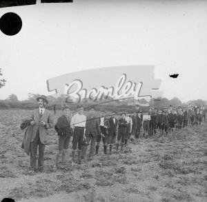 Group of boys in field (1),  c.1930