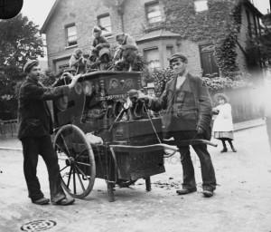 Organ grinder with monkeys,  c.1910