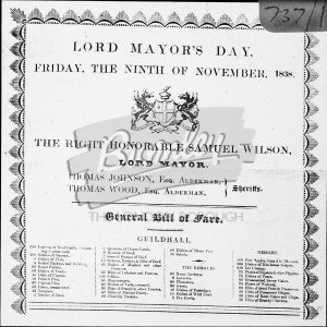 Lord Mayor's Day, Lord Mayor's Day 1838