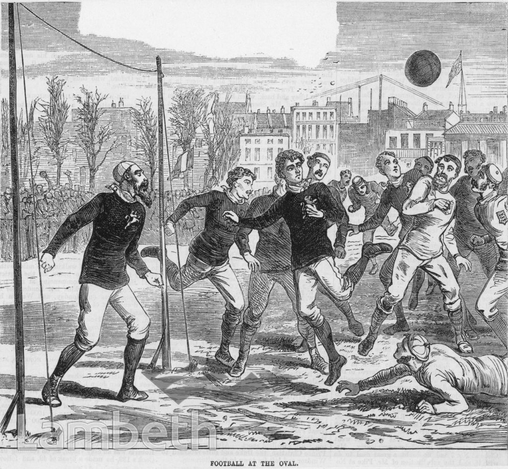 FOOTBALL AT THE OVAL, KENNINGTON