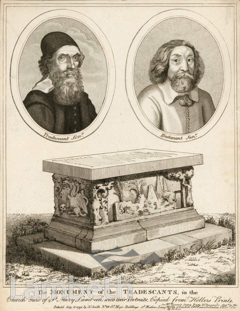 MONUMENT OF THE TRADESCANTS, ST MARY'S CHURCH, LAMBETH