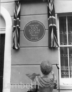 VAN GOGH PLAQUE, 87 HACKFORD ROAD, BRIXTON