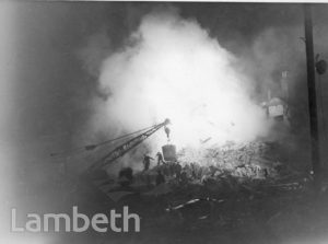 LAMBETH ROAD, LAMBETH: WORLD WAR II INCIDENT