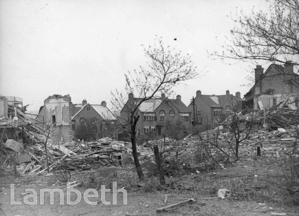 LOVELACE ROAD,  TULSE HILL: WORLD WAR II INCIDENT