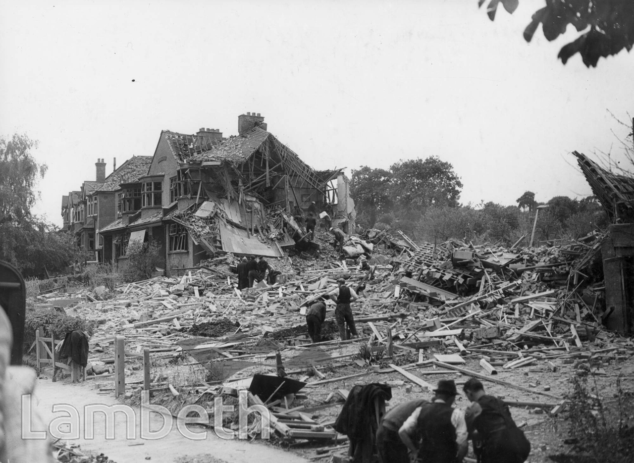 ROSENDALE ROAD, TULSE HILL: WORLD WAR II INCIDENT