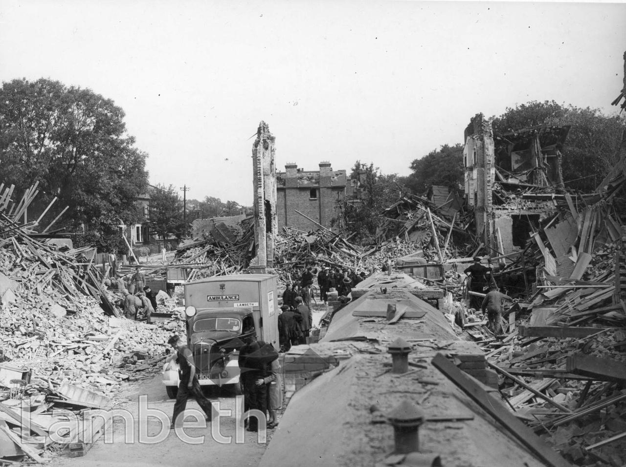 RUMSEY ROAD, BRIXTON: WORLD WAR II INCIDENT
