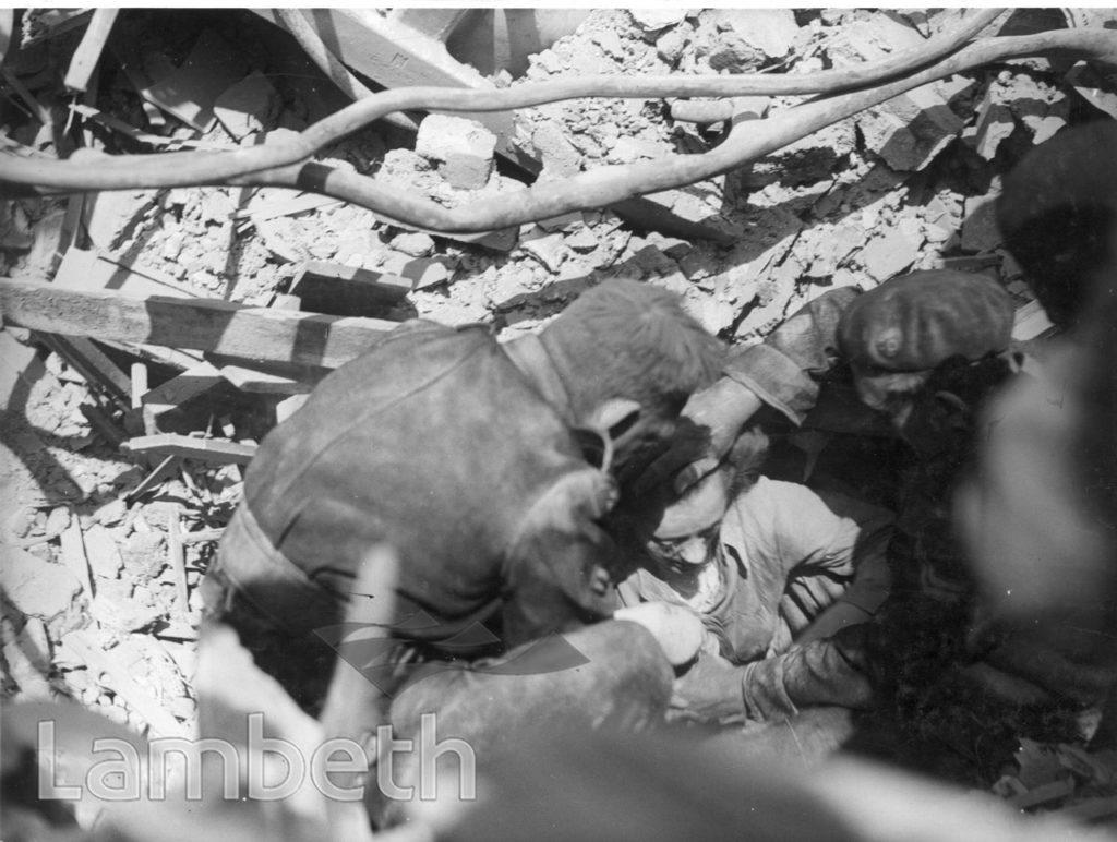 INFORMATION CENTRE, ACRE LANE, BRIXTON WORLD WAR II INCIDENT