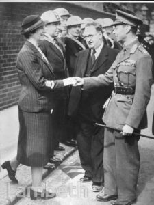 ROYAL VISIT, PRATT WALK, LAMBETH: WORLD WAR II
