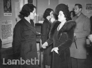 ROYAL VISIT, LAMBETH TOWN HALL: WORLD WAR II