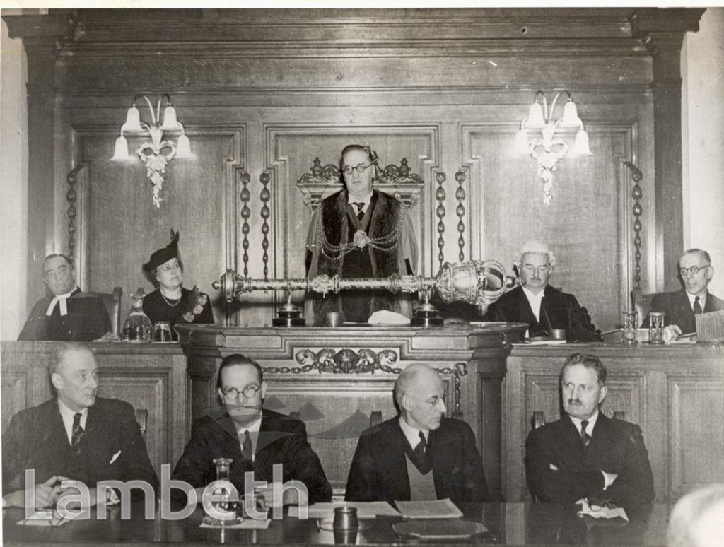 LAMBETH TOWN HALL, BRIXTON: COUNCIL IN SESSION