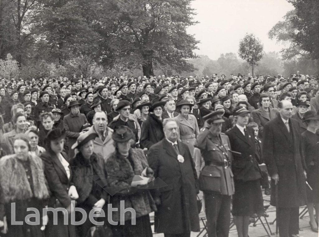 BATTLE OF BRITAIN SUNDAY, BROCKWELL PARK : WORLD WAR II