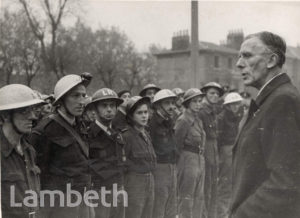 SIR ERNEST GOWERS VISIT, LAMBETH : WORLD WAR II