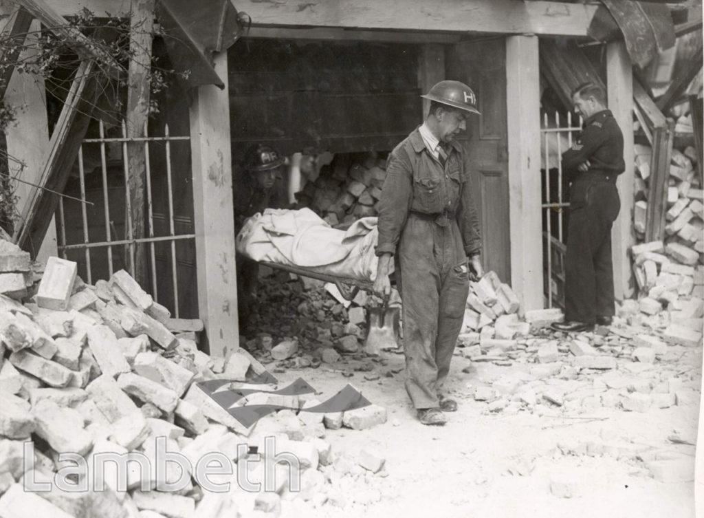 SIR ERNEST GOWER'S VISIT, LAMBETH : WORLD WAR II