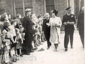 ROYAL VISIT, BRIXTON CENTRAL : WORLD WAR II