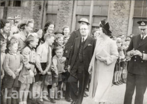 ROYAL VISIT, BRIXTON CENTRAL: WORLD WAR II