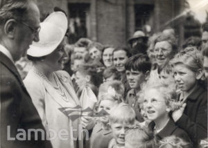 ROYAL VISIT, BRIXTON : WORLD WAR II