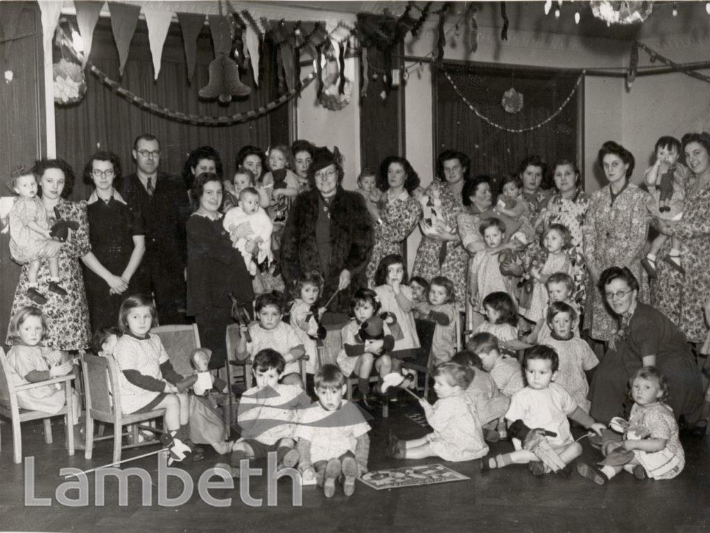 DISTRIBUTION OF TOYS, TULSE HILL DAY SCHOOL: WORLD WAR II