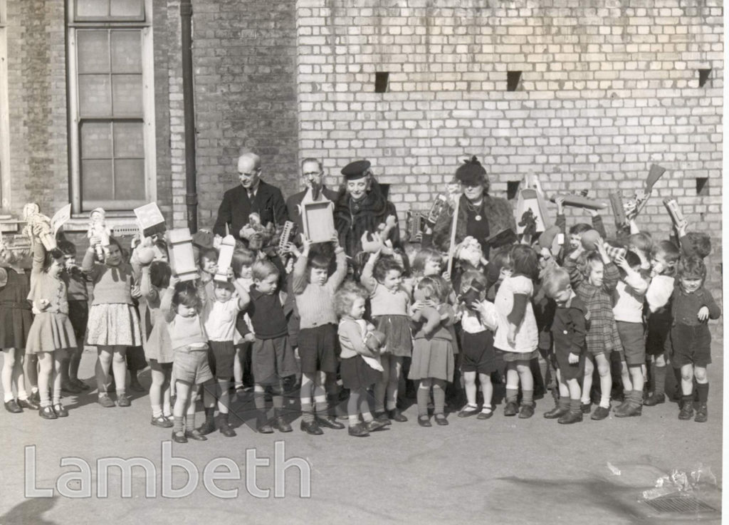 DISTRIBUTION OF TOYS, LOWER MARSH SCHOOL: WORLD WAR II