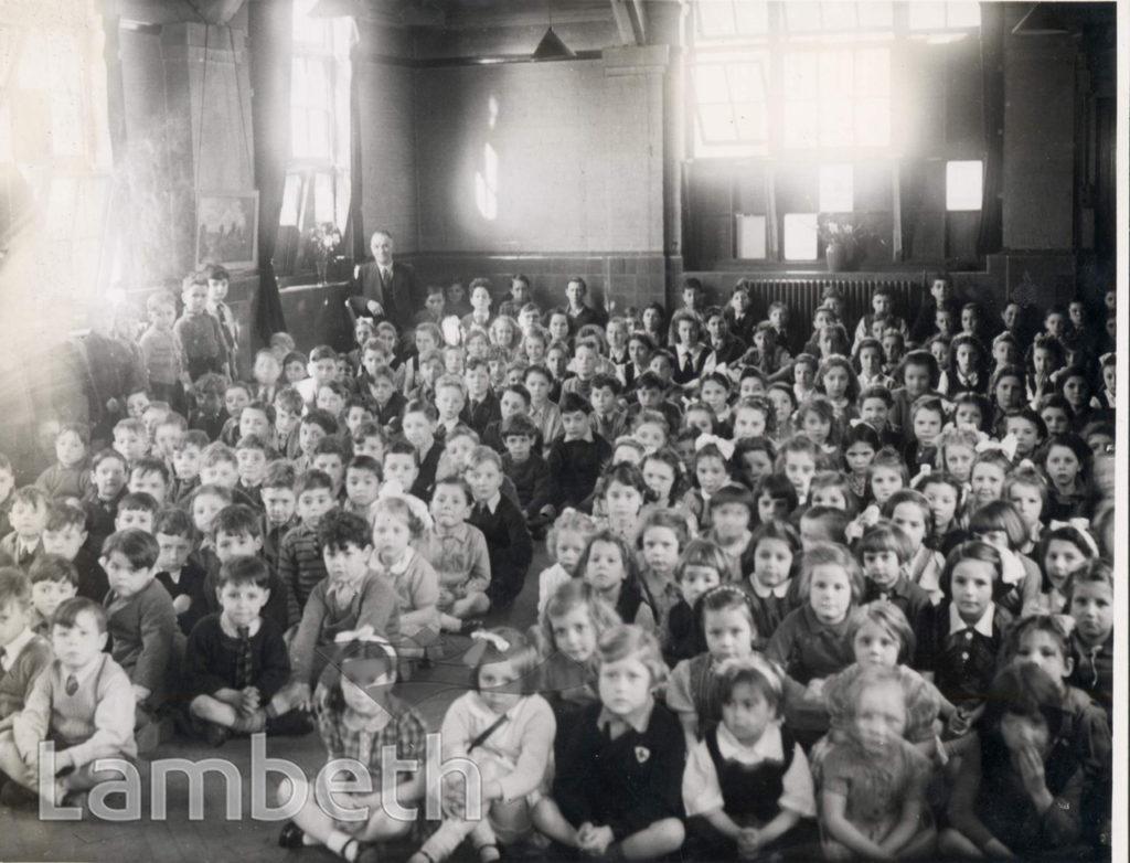 DISTRIBUTION OF TOYS, SUDBOURNE ROAD SCHOOL: WORLD WAR II