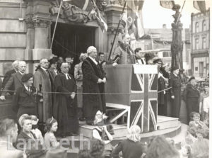 V.E. DAY, LAMBETH TOWN HALL,BRIXTON : WORLD WAR II