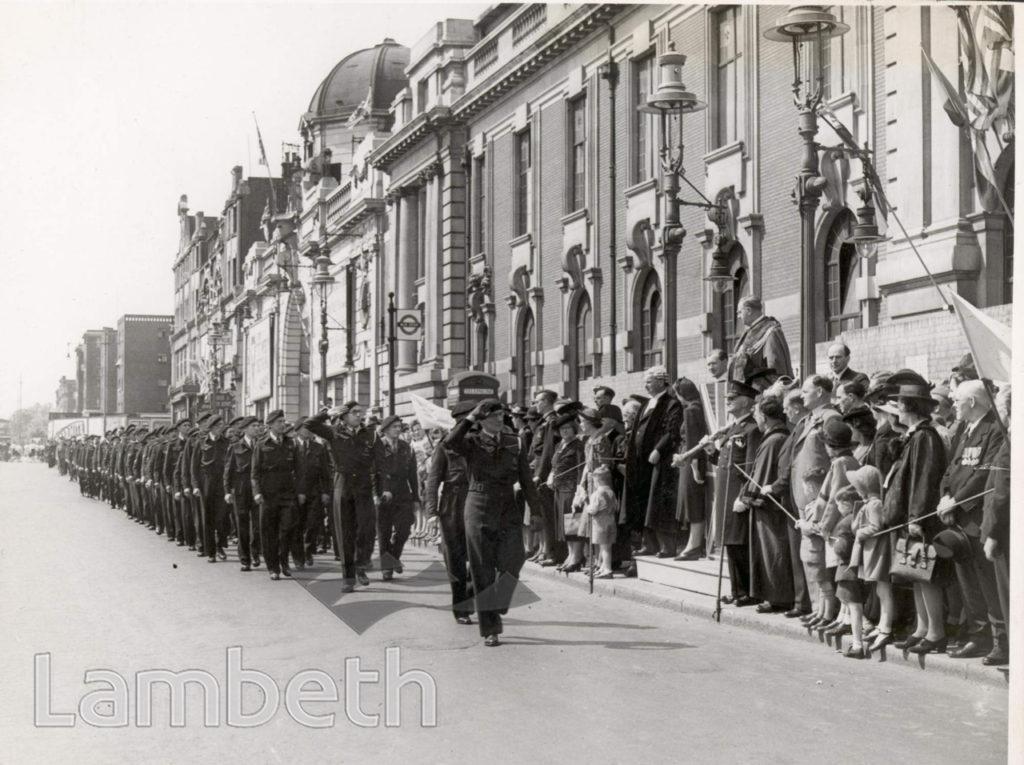 THANKSGIVING SUNDAY, LAMBETH TOWN HALL : WORLD WAR II