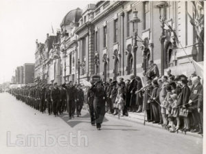 THANKSGIVING SUNDAY, LAMBETH TOWN HALL : WORLD WAR II