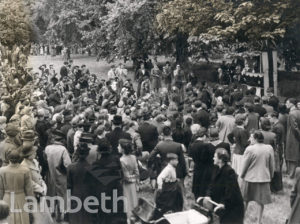 GARDEN PARTY AT LAMBETH PALACE, LAMBETH: WORLD WAR II