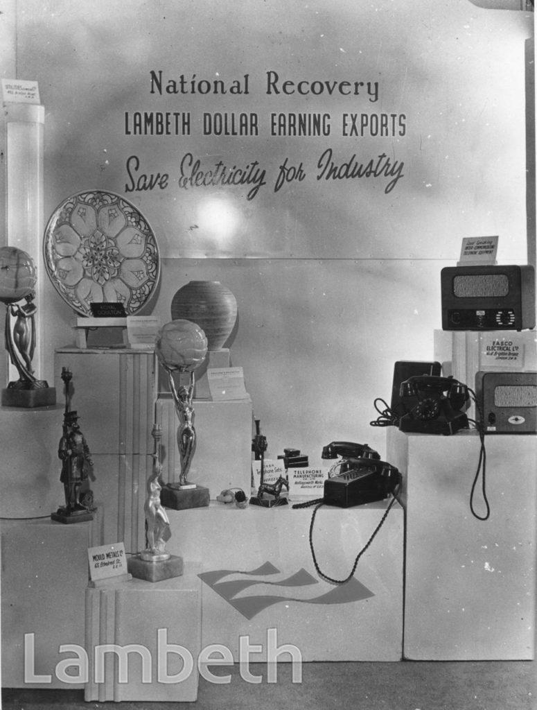 LAMBETH INFORMATION CENTRE DISPLAY: TOWN HALL, BRIXTON