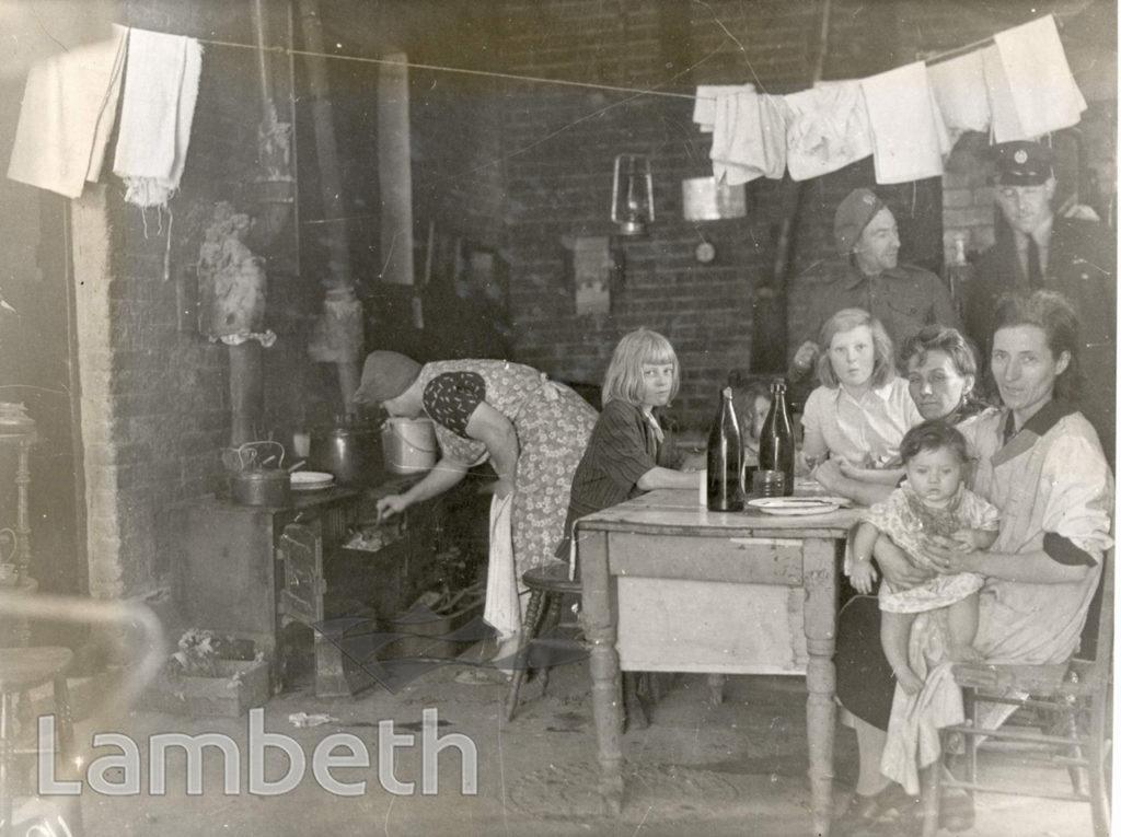 LAMBETH, WORLD WAR II: LIVING UNDER TARPAULINS