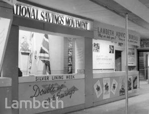 LAMBETH INFORMATION CENTRE DISPLAYS: TOWN HALL, BRIXTON