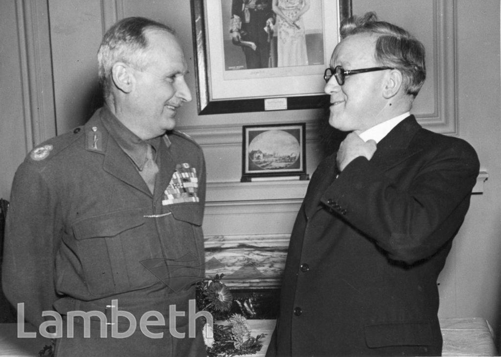 MONTGOMERY'S VISIT, LAMBETH TOWN HALL : WORLD WAR II