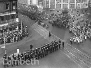 LORD MAYOR'S VISIT, LAMBETH TOWN HALL BRIXTON :WORLD WAR II