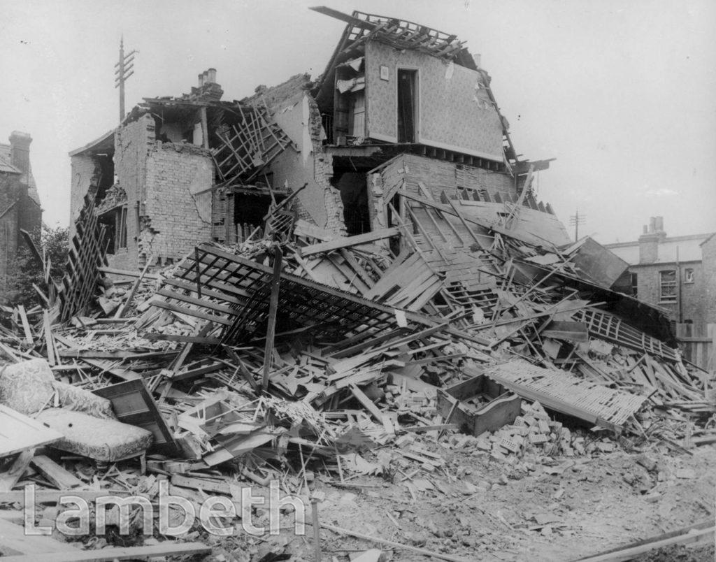 ESTREHAM ROAD, STREATHAM VALE: WORLD WAR I INCIDENT