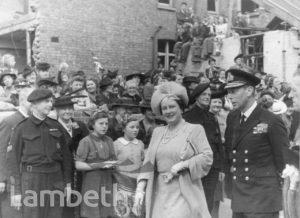 ROYAL VISIT, SUNNYHILL SCHOOL, STREATHAM : WORLD WAR II
