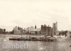 LAMBETH PALACE, AND THAMES FORESHORE, LAMBETH