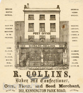 R. COLLINS, KENNINGTON PARK ROAD, KENNINGTON: ADVERTISEMENT