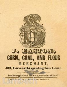 J. EASTON, LOWER KENNINGTON LANE, KENNINGTON: ADVERTISEMENT