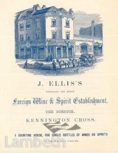 J. ELLIS, KENNINGTON CROSS, KENNINGTON: ADVERTISEMENT