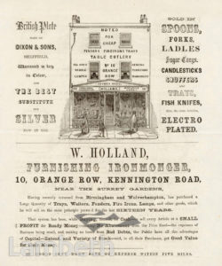 W. HOLLAND, ORANGE ROW, KENNINGTON: ADVERTISEMENT