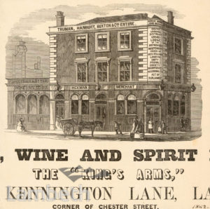 KINGS ARMS, KENNINGTON LANE, KENNINGTON: ADVERTISEMENT