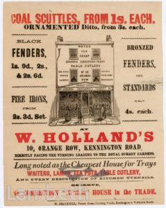 W. HOLLAND, ORANGE ROW, KENNINGTON : ADVERTISEMENT
