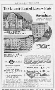 'LEIGHAM HALL', STREATHAM HIGH ROAD, STREATHAM CENTRAL