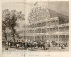 THE GREAT EXHIBITION (LATER THE CRYSTAL PALACE), HYDE PARK