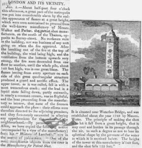 OLD SHOT TOWER, SOUTH BANK, WATERLOO