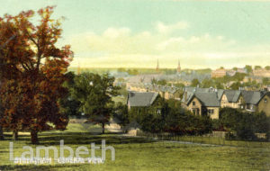 VIEW OF STREATHAM FROM ABOVE VALLEY ROAD, STREATHAM CENTRAL