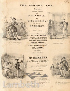 VAUXHALL GARDENS: SONG BOOK