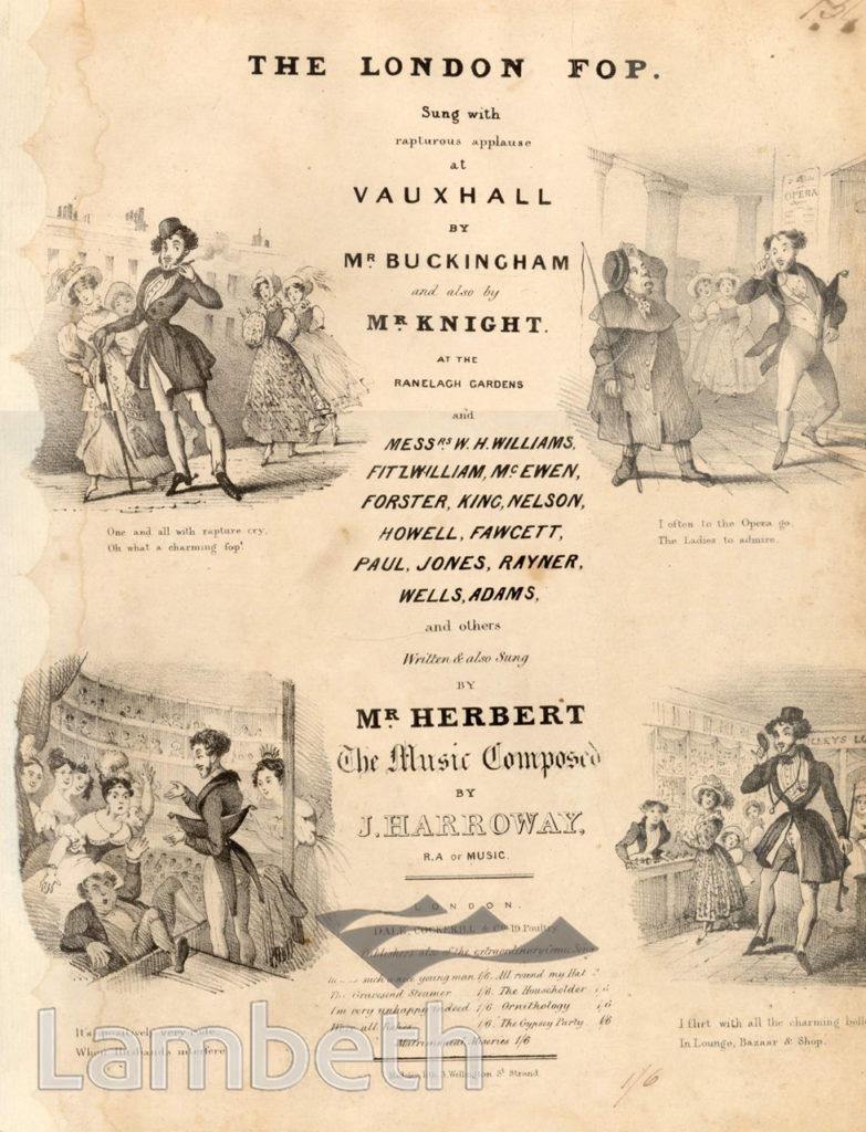 VAUXHALL GARDENS: SONG BOOK