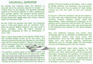 VAUXHALL PLEASURE GARDENS: INTRODUCTION