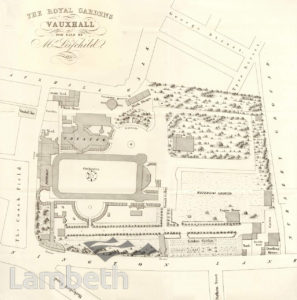 VAUXHALL GARDENS, VAUXHALL: PLAN OF THE ROYAL GARDENS
