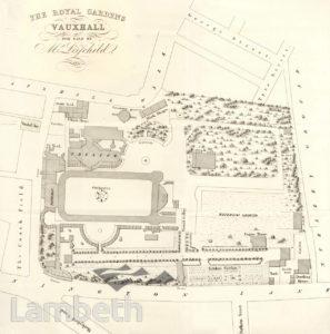 VAUXHALL GARDENS, VAUXHALL: PLAN OF THE ROYAL GARDENS